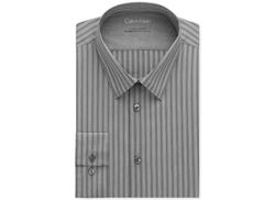 Calvin Klein  - Extra Slim-Fit Stretch Coal Stripe Dress Shirt
