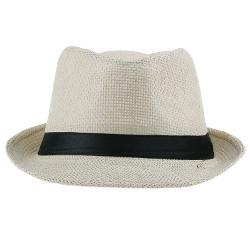 Orien  - Unisex Women Straw Fedora Hat