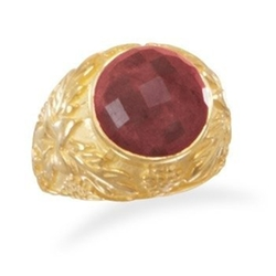 AzureBella Jewelry - Genuine Ruby Rough-Cut Ring