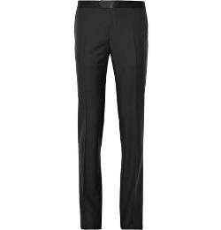 Lanvin   - Mohair-Blend Tuxedo Trousers