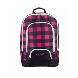 Fuel  - Triple Pocket Checkerboard Print Backpack