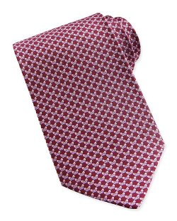 Salvatore Ferragamo   - Butterfly-Pattern Woven Tie