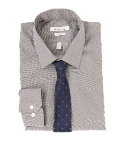 Perry Ellis  - Slim Fit Wrinkle Free Solid Dress Shirt