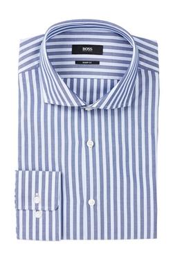 Hugo Boss - Mark Long Sleeve Sharp Fit Split Stripe Dress Shirt