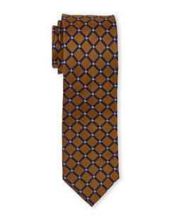 English Laundry - Gold & Navy Diamond Tie