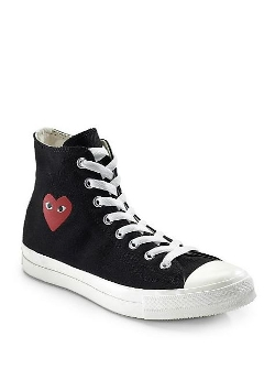 Comme des Garcons Play -  High-Top Canvas Sneakers