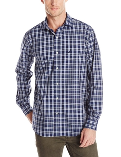 Nautica - Wrinkle-Resistant Medium-Plaid Shirt