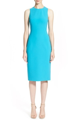 Michael Kors - Double Face Stretch Wool Crepe Sheath Dress