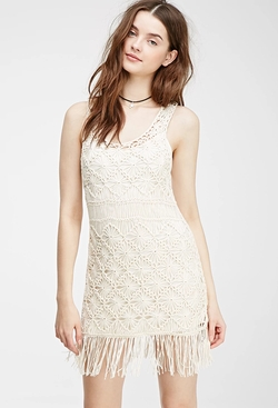 Forever 21 - Fringed Macramé Shift Dress