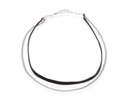 Jennifer Zeuner Jewelry - Ivy Cameron Leather & Silver Choker