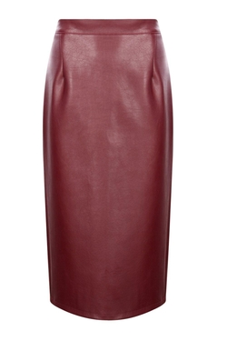 Boohoo Night - Jasmine Leather Look Midi Skirt