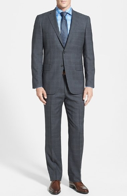 Hart Schaffner Marx  - New York Classic Fit Plaid Wool Suit