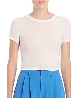 Alice And Olivia - Jazmine Crewneck Cropped Tee