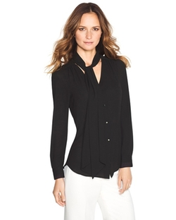 White House Black Market - Tie Front Blouse