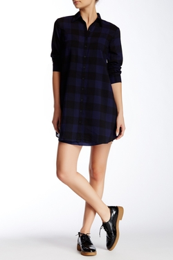 BB Dakota - Cotter Buffalo Plaid Tunic Dress