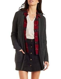 Charlotte Russe - Shaker Stitch Cardigan Sweater