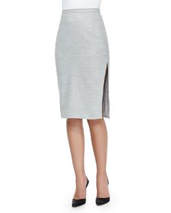 Altuzarra   - Asymmetric-Slit Iconic Pencil Skirt