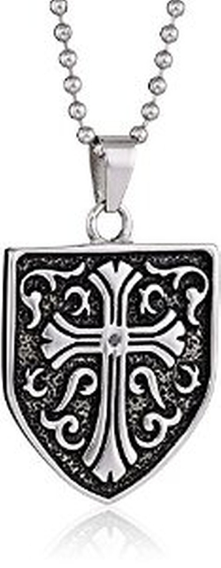 Cold Steel - Cross Shield Pendant Necklace