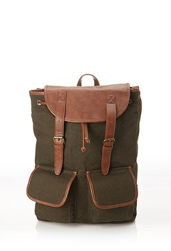Fashion 21 - Faux Leather-Trimmed Backpack