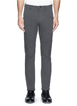 Attachment   - Stretch Knit Slim Fit Pants