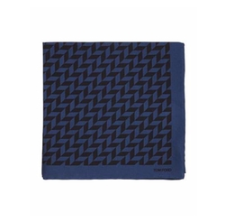 Tom Ford - Geometric-Print Silk Pocket Square