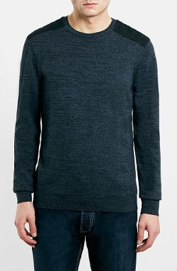Topman  - Shoulder Patch Crewneck Sweater