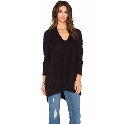 Free People - Easy Cable V Neck Sweater