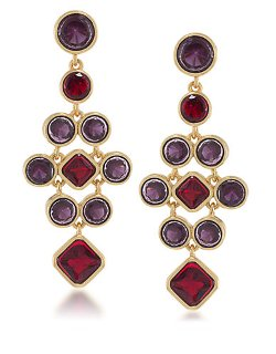 Carolee  - Berry Chic Chandelier Drop Earrings