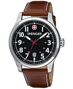 Wenger  - Swiss Terragraph Leather Strap Watch
