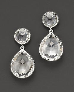Ippolita - Snowman Drop Earrings in Clear Quartz