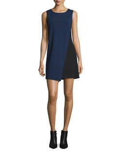 Diane von Furstenberg - Livvy Asymmetric Colorblock Dress