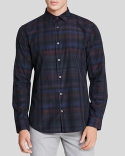 Vince  - Melrose Multi Plaid Slim Fit Button Down Shirt