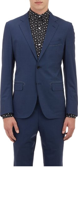 Tomorrowland - Micro-Check Two-Button Sportcoat