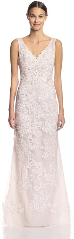 Basix Black Label - V-Neck Lace Gown