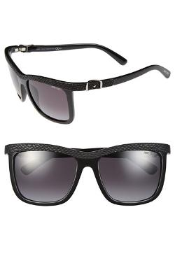 Jimmy Choo - Reas 56mm Rectangular Buckle Temple Sunglasses
