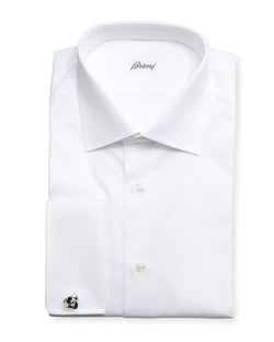 Brioni - Diamond-Weave French-Cuff Shirt