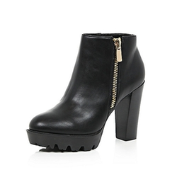 River Island - Zip Trim Chunky Ankle Boots