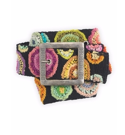 Tey-Art - Circle Me Hand Embroidered Wool Fair Trade Belt