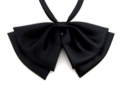Feibi Fashion - Solid Color Preppy Pre-Tied Bow Tie