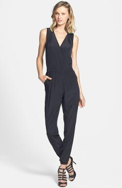 Halogen - V-Neck Sleeveless Jumpsuit