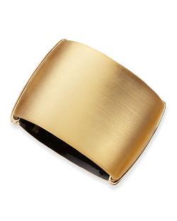 Alexis Bittar  - Golden Liquid Lucite Hinge Cuff