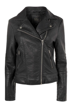Boohoo - Julia Quilted Sleeve Biker Jacket