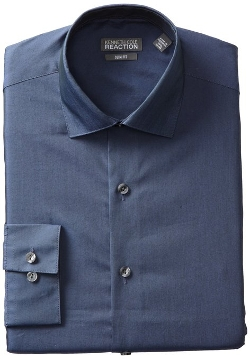 Kenneth Cole REACTION - Slim-Fit Chambray Dress Shirt