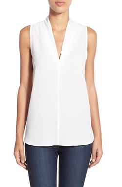 Pleione - V-Neck Sleeveless Top