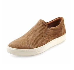 Vince - Ace Perforated Suede Skate Sneakers