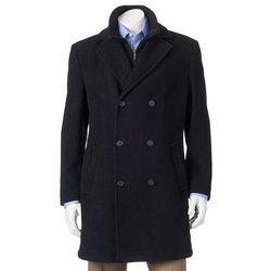 Chaps - Double-Breasted Wool-Blend Coat