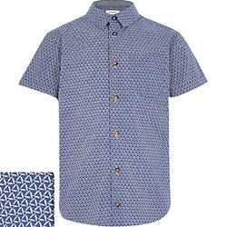 River Island - Patterned Short Sleeve Shirt