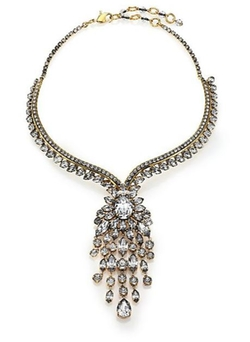 Erickson Beamon  - Fringe Element Crystal Bib Necklace