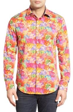 Bugatchi - Floral Print Sport Shirt