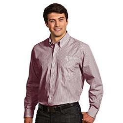 Antigua - Texas A&M Republic Striped Button Down Dress Shirt